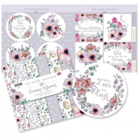 "The Paper Boutique Paper Kit 8""X8"" -Evening Blooms"