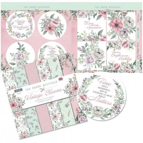 """The Paper Boutique Paper Kit 8""""X8"""" -Vintage Blooms"""