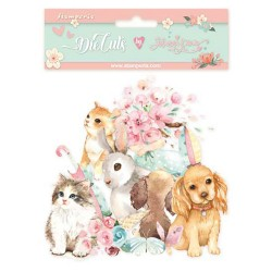 Stamperia Die cuts assorted -  Circle of Love cats, dogs and embellishments