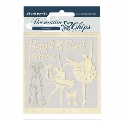Stamperia  Decorative chips 14x14 cm - Passion dancer