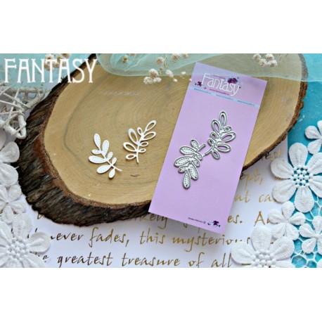 """Fantasy """"Malyuski branches"""" 2 pcs, each branch size 3.7 * 1.8 cm"""