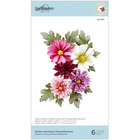 Spellbinders Etched Dies-Chrysanthemum- Susan's Autumn Flora