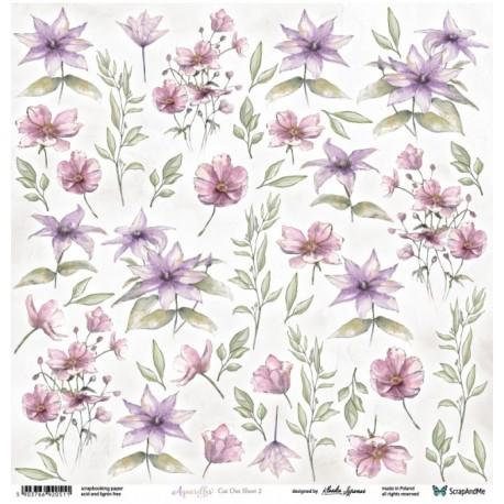 Scrapandme Aquarelles Flowers 2 - Cutting Sheet