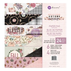 PRIMA HELLO PINK AUTUMN COLLECTION 12×12 PAPER PAD