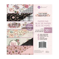 HELLO PINK AUTUMN COLLECTION 6×6 PAPER PAD – 30 SHEETS