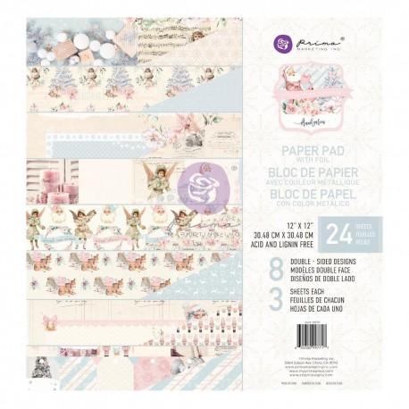 CHRISTMAS SPARKLE COLLECTION 12×12 PAPER PAD – 24 SHEETS W/ FOIL DETAIL