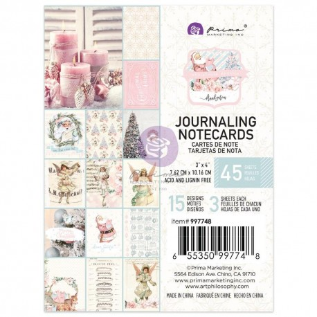 CHRISTMAS SPARKLE COLLECTION 3X4 JOURNALING CARDS – 45 SHEETS