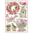 Stamperia A4 Rice Paper - ROSE GARDEN