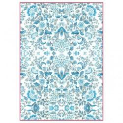Stamperia A4 Rice Paper - BLUE ARABESQUE