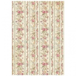 Stamperia A4 Rice Paper -  TINY ROSES WALLPAPER