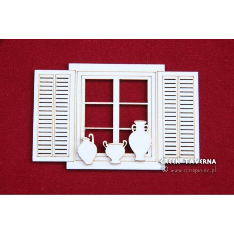 Scrapiniec GreekTawerna - window and pots