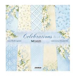 Scrapandme Celebrations Blue Papers 12x12