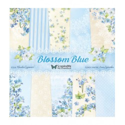 Scrapandme Blossom Blue Papers 12x12