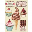 STAMPERIA COLORED WOODEN SHAPE A5 - SWEETY