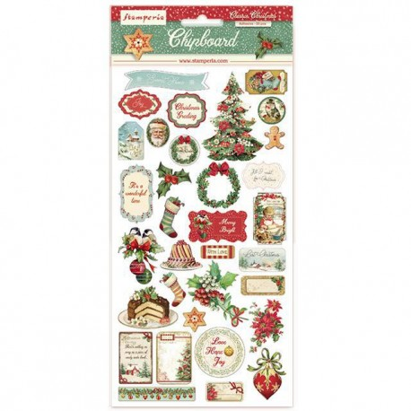 STAMPERIA DIE CUTS ASSORTED - CLASSIC CHRISTMAS