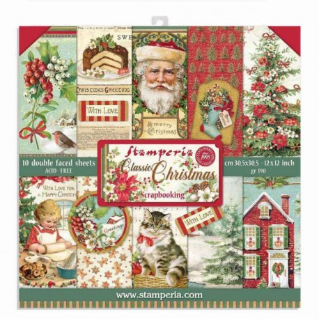 Stamperia Classic Christmas  12x12