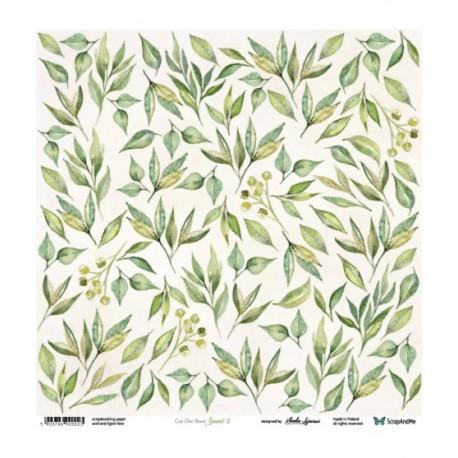Scrapandme Leaves 2 - Sheet For Cutting 12x12