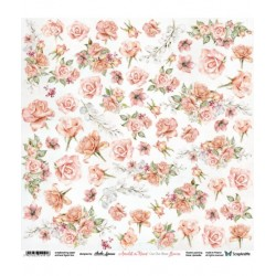 Scrapandme AMIDST THE ROSES FLOWERS - CUTTING SHEET